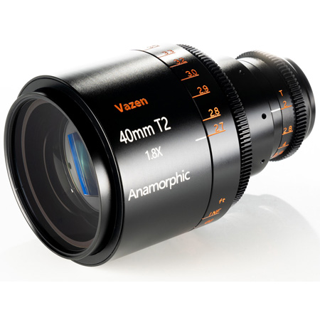 Vazen VAZEN-VZ4018ANA 40mm T/2 1.8x Anamorphic Lens for Micro Four Thirds Cameras