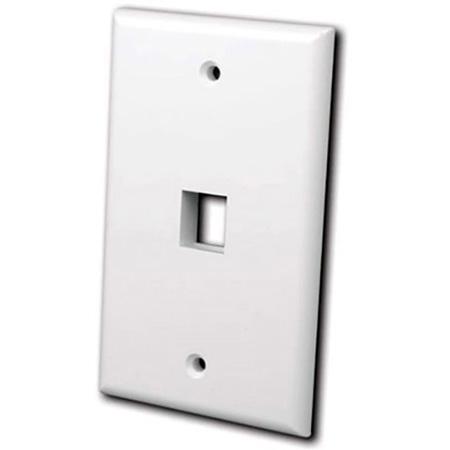 Vanco 820101 Keystone Wall plate 1 port White