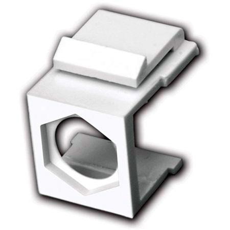 Vanco 820440 Blank Keystone Insert- Hex Hole- 5 Pack - White