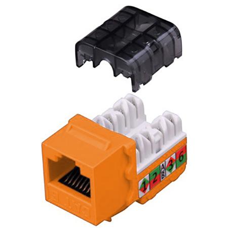 Vanco 820817 Category 6 90 Degree Keystone Insert 8-Conductor - Orange