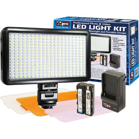 Vidpro LED-300 On-Camera Daylight-Balanced LED Light
