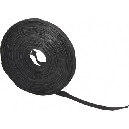 VELCRO® Brand 158793 Brand 3/4 Inch x 6 Inch QWIK Tie Die-Cut Straps - Black 150 Pack
