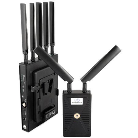 VidOvation Reacher 1500 Zero Latency HDMI & 3G-SDI Wireless Video System with V-Lock Plate - 1500 Foot Range