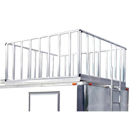 Production Trailer 8ft Reinforced Observation Deck Option with Railings & Ladder