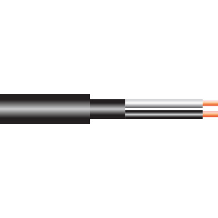 Rapco 18GA.K 2 conductor 18 AWG stranded bare copper PVC insulated and jacketed unshielded speaker cable per foot