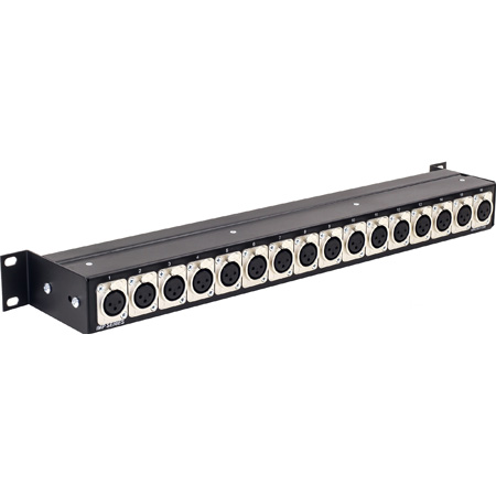 Ward-Beck IMP-16F/10 Impedance Transformer Panel - 16 XLR Female to BNC 1 Rack Unit with 10dB Loss Pad