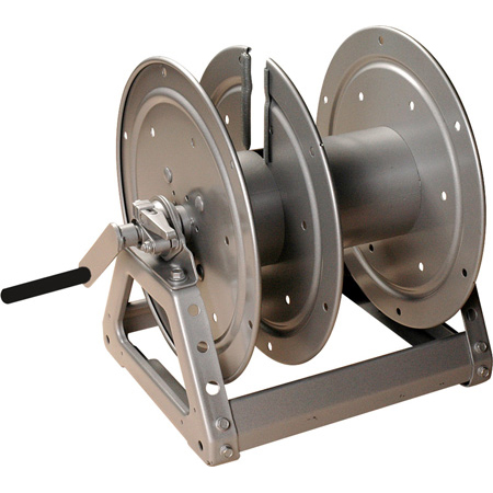 Hannay Reels C1520-17-18 Cable Reel with Slotted Divider Disc Silver