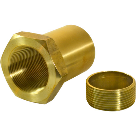 FiberPlex WEN-6-1.5 Waveguide Extension Nut for Use with WGF-6 WGF-461 WGF-4 1.50 Inch long