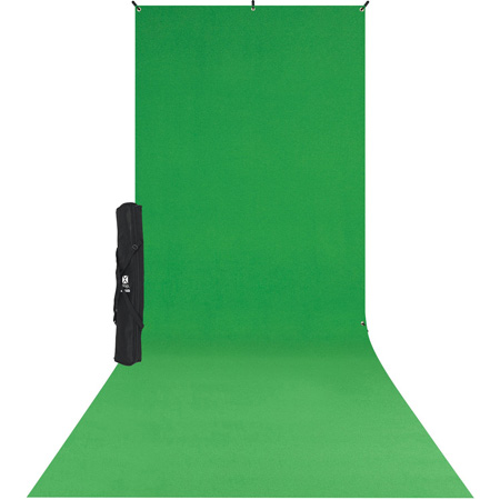 Westcott 579SK X-Drop Wrinkle-Resistant Backdrop Kit - Chroma-Key Green Sweep (5 x 12 Foot)