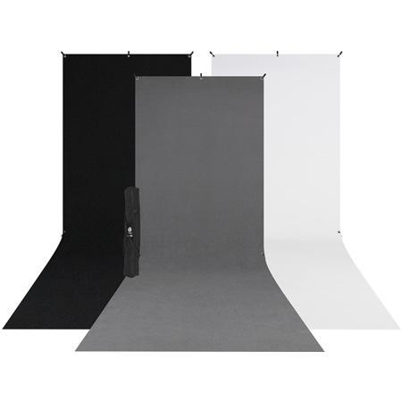Westcott 615SK X-Drop 3-Pack Sweep Backdrop Kit (5 x 12 Foot)