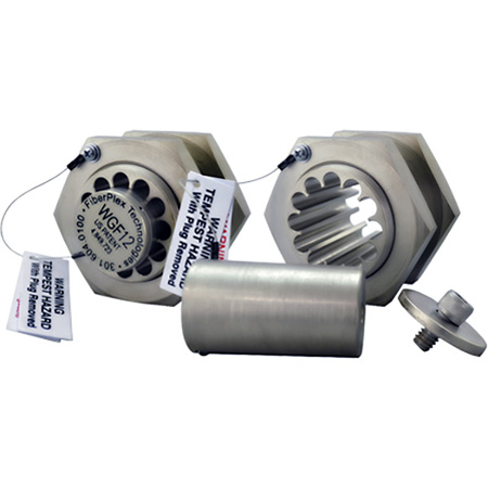 FiberPlex WGF-12 Waveguide Filter with Removable Plug for Pre-Terminated Fibers 27 GHz Cutoff 12 Bores