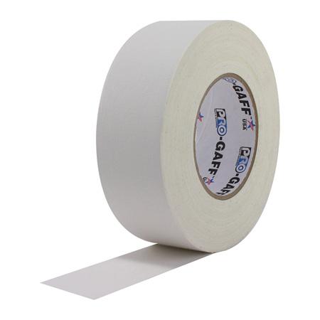 Pro Tapes 001G112MWHT112 Pro Gaff Gaffers Tape WGT1-12 1 Inch x 12 Yards Mini Roll - White