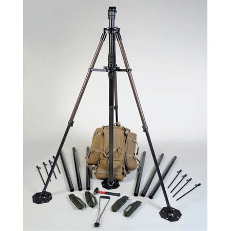 Will-Burt 714042410 24 Foot Ranger Pack - Lightweight Mast System with Desert Tan Backpack - 50lb/23kg Payload Capacity