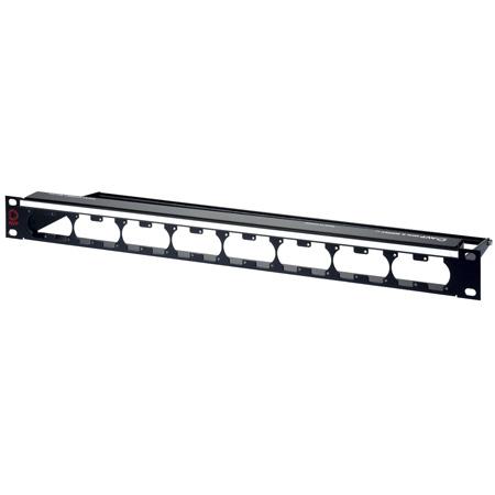 AVP WKM-U116E1-Z-B31 1RU Maxxum Panel Accepts 16 Single/8 Dual D Modules MIS - 6 Inch Bar