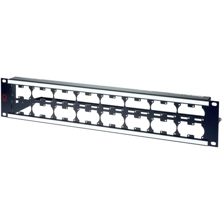 AVP WKM-U216E2-Z-B33 2RU Maxxum Panel Accepts 32 Single/16 Dual Modules MIS - 6 Inch Bar