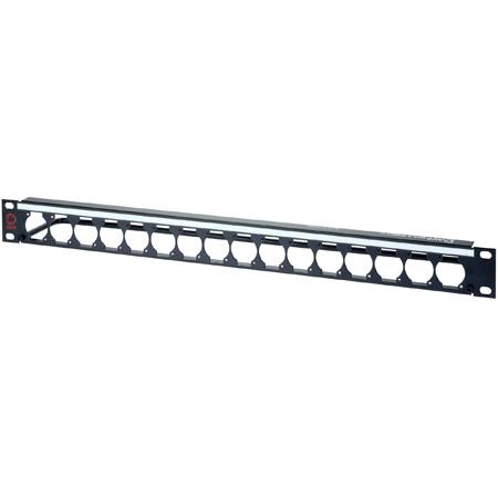 AVP WKM-US116E1-Z-B80 1RU Maxxum Panel Accepts 16 Single D Modules MIS - 3 Inch Bar