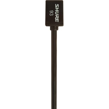 Shure WL93 Subminiature Omnidirectional Lavalier Mic - Black - 4 Foot Cable