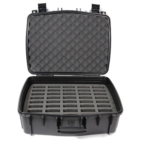 Williams AV CCS Large Water Resistant Carry Case w/ 40 Slot Foam Insert for Digi-Wave Transceivers & Receivers