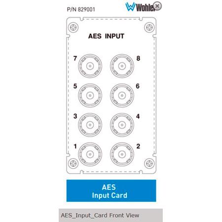 Wohler 829001 AES Input Card for AMP2-16V-M