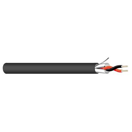 West Penn Wire 25293BBK1000 25293B 1 Pair 18GA Plenum Control Cable - Black - 1000 Feet