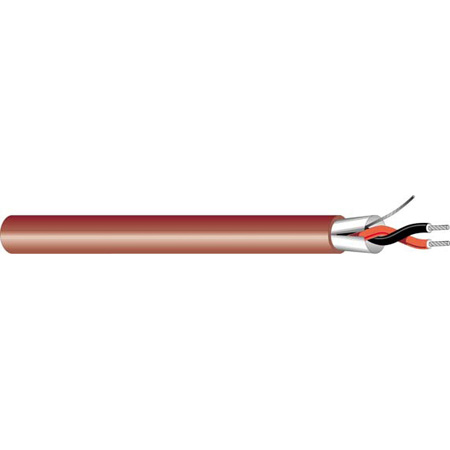 West Penn Wire D25454 22/2 Plenum Miniature Line-Level Audio Cable - 1000 Ft.