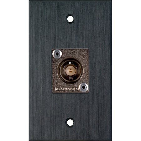 My Custom Shop WPBA-1103 1-Gang Black Anodized Wall Plate w/ 1 Canare BCJ-JRU BNC Feed-Thru