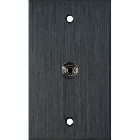 My Custom Shop WPBA-1196 1-Gang Black Anodized Wall Plate w/ 1 mini 3.5 stereo feedthrough