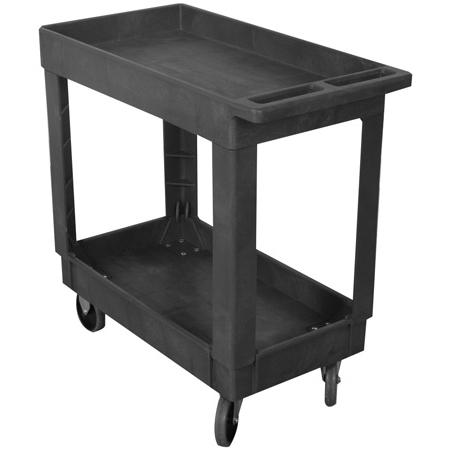 Wesco 270482 500 Lb. Capacity 16 x 30 Plastic Production Cart