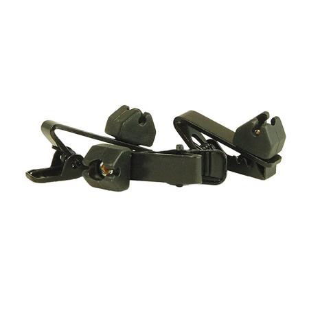 WindTech TC-9 Lavalier/Lapel Mic Soft Mount Tie Clip 3 Pack Black