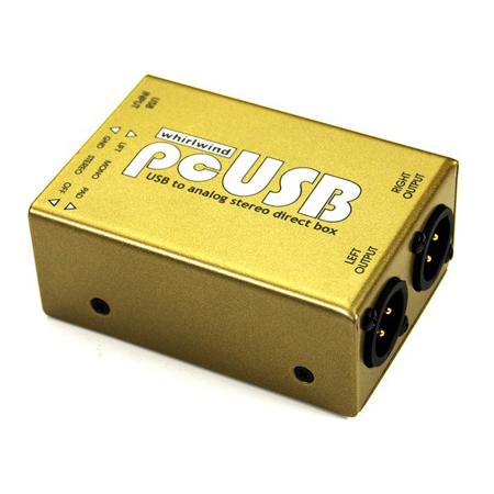 Whirlwind PCUSB Direct Box - USB-B Input - Stereo XLR Balanced Output