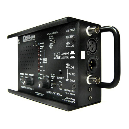 Whirlwind QBOX-AES Audio Line Tester With AES