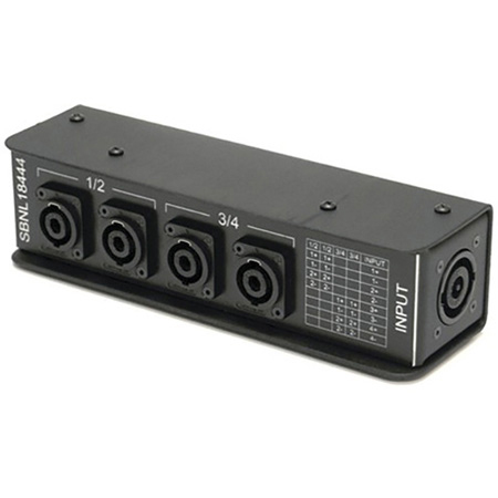 Whirlwind SBNL18444 Splitter - Speakon/Stagebox - 1 NL8 4 NL4 Wired as Bi-Amp Pairs