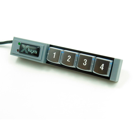 X-Keys XK-4 USB Stick Keys with 4 Programmable Keys for Windows or Mac