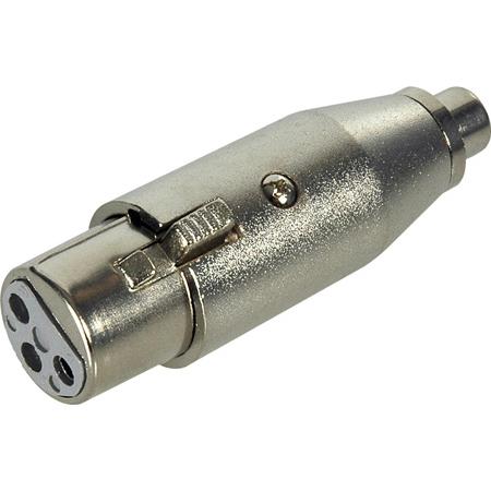 Connectronics XLF-PF XLR Female to RCA Female Adapter