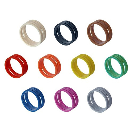 Neutrik XXR-5 Colored Ring for X-Series Cable Ends - Green - 10 Pack