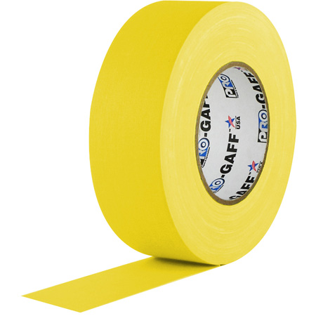 Pro Tapes 001UPCG255MYEL Pro Gaff Gaffers Tape 2 Inch x 55 Yards - Yellow
