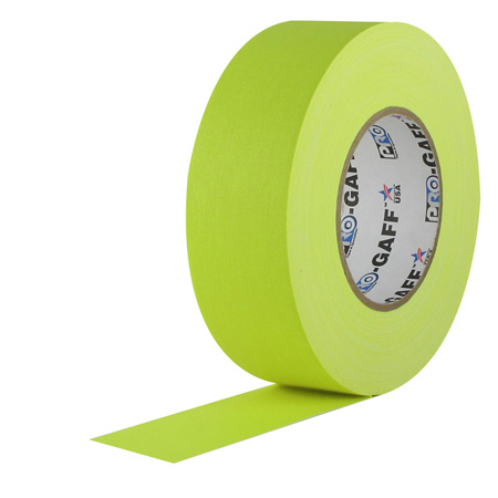 Pro Tapes 001UPCG350MFLYEL Pro Gaff Gaffers Tape YGT3-50 3 Inch x 50 Yards - Fluorescent Yellow