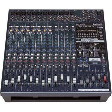 Yamaha EMX5016CF 16 Input Powered Mixer with Dual 500 Watt Power Amp