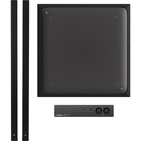 Yamaha UC ADECIA Ceiling Bundle RM Ceiling Mic  - RM Audio Processor & 2 of VXL1B-16P Speakers - Black - Dante Ready