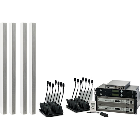 Yamaha YAI-1-BX-WH Conference Microphone Ensemble for Boardroom - White Speaker - 16 Microphones