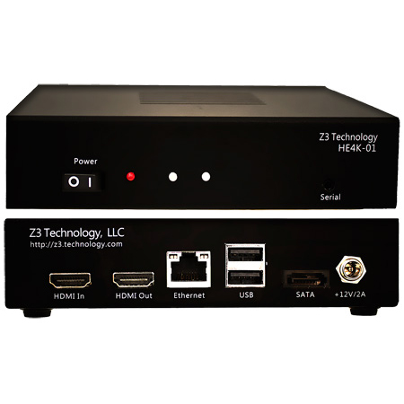 Z3TECH HE4K-01 H.264 Encoder & Decoder Solution Supporting HD Resolutions up to 2160p at 30 Frames Per Second (4K UHD)