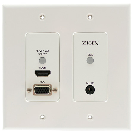 Zigen ZIG-POEWP-100 HDMI/VGA Auto-Switching Wallplate HDBaseT Transmitter