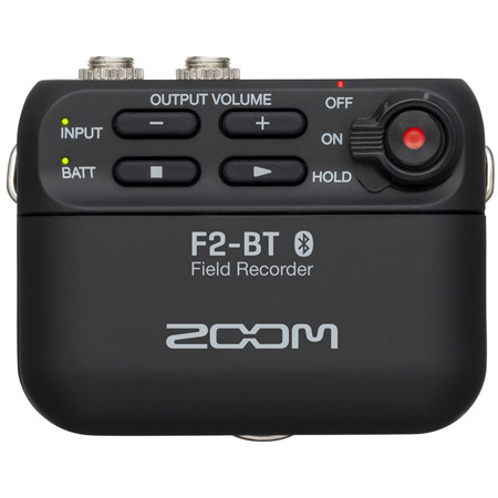 ZOOM F2 Field Recorder Bluetooth Version with Locking 3.5mm Mic Connection
