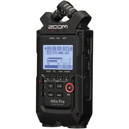 ZOOM H4n PRO 4-Track Handheld Digital Audio Recorder - All Black