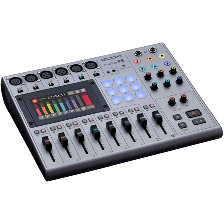 ZOOM PodTrak P8 Portable Multi-Track Podcast Recorder with 9 Sound Pads and Mix/Minus Capability