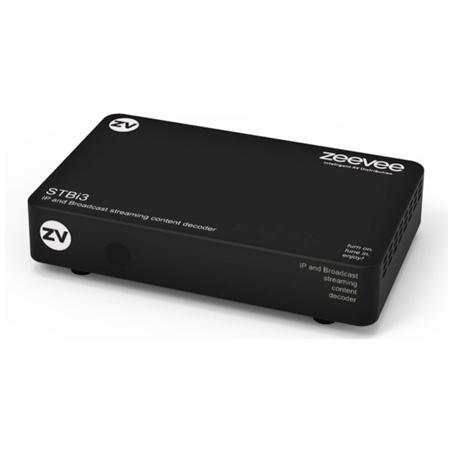 ZeeVee STBI3 IP and Broadcast Set Top Box Decoder - Digital RF over Coax and H.264