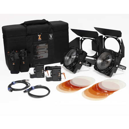 Zylight 26-01053 F8-200 Daylight Dual Head ENG Kit with Case - Gold Mount