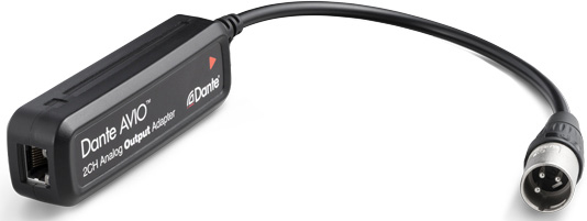Audinate ADP-DAO-AU-0X1 Dante AVIO Analog Output Adapter with RJ45 and XLR  male  Single channel version