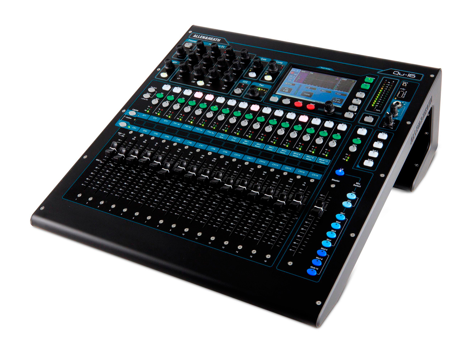 allen heath qu 16 16 channel digital mixer. Black Bedroom Furniture Sets. Home Design Ideas