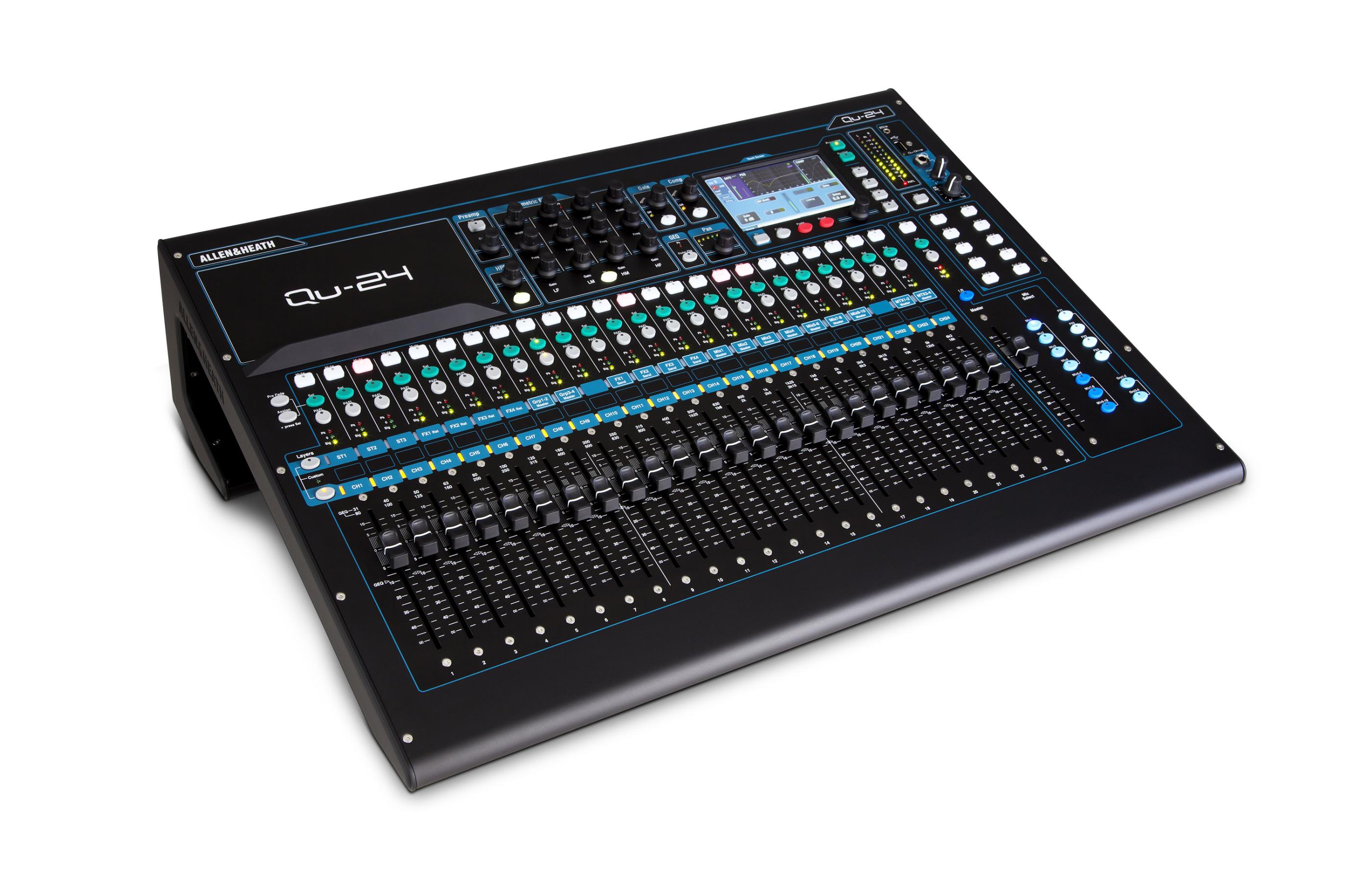 allen heath qu 24 30 in 24 out digital audio mixer. Black Bedroom Furniture Sets. Home Design Ideas